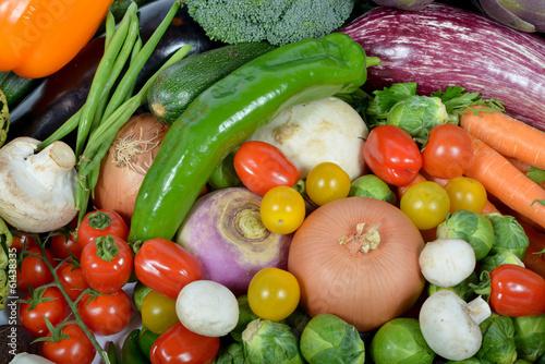 Fotobehang vegetables market