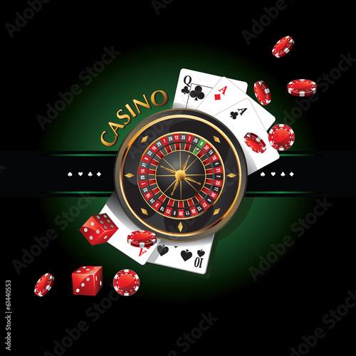 Fotografie, Obraz  elements casino, roulette