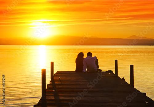 Fotobehang Pier un romance en el mar
