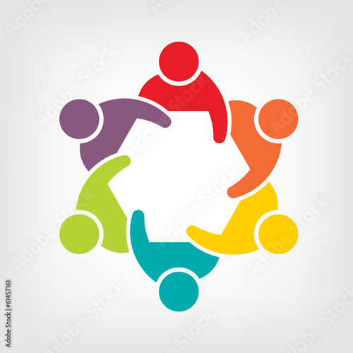Fotografie, Obraz  Vector Teamwork Meeting 6. Group of People
