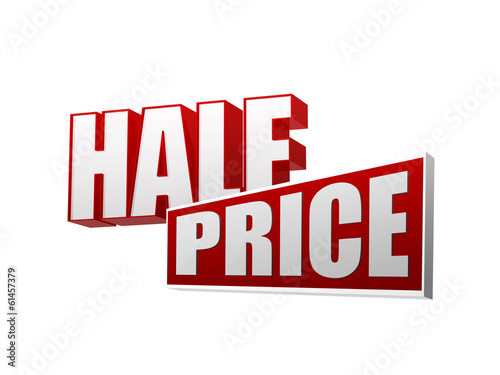 Papel de parede half price in 3d letters and block