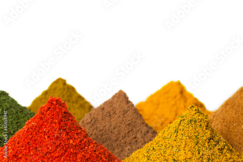 Recess Fitting Spices Spices on a white background