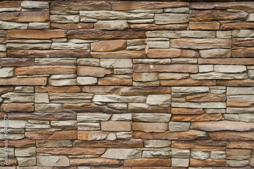 Stone stucco wall