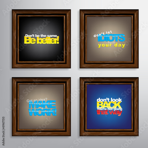 Poster  Set Of Motivational Quotes.