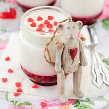 Yoghurt With Raspberry Jam And...