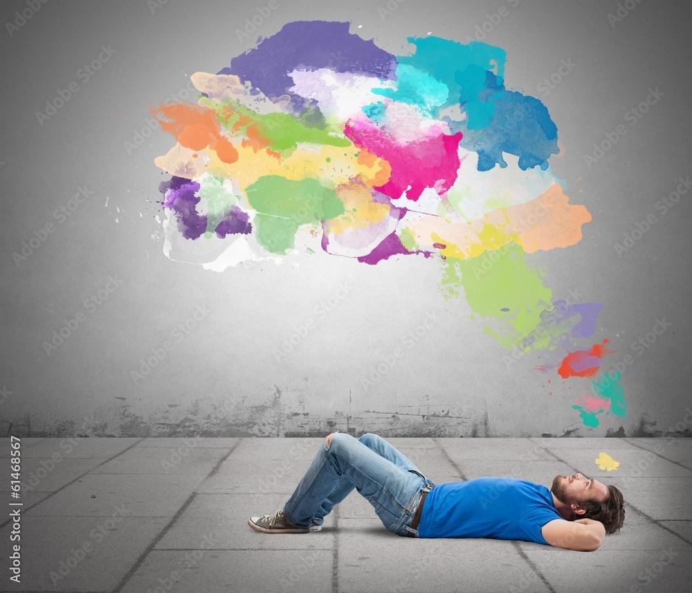 Fototapety, obrazy: Think creative