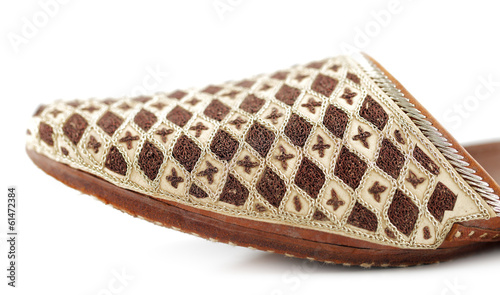 7644ee2bbea Traditional Arabic slippers shot against a white background - Buy ...