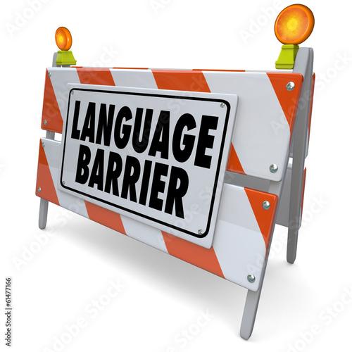 Fotografía  Language Barrier Translation Interpret Message Meaning Words