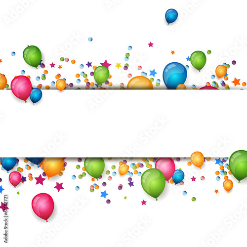 Fotografía  Vector Background with Colorful Balloons