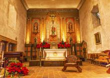 Basilica Cross Altar Mission Santa Barbara California
