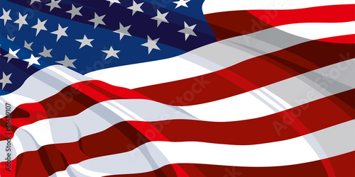 Fototapeta The national flag of the United States of America