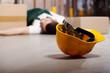 Leinwanddruck Bild - Dangerous accident during work