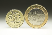 British One And Two Pound Coin...