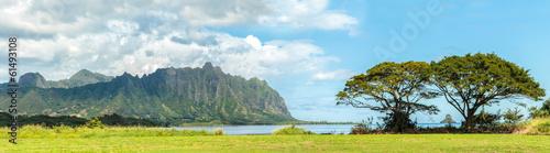 Fotografie, Obraz  The Koolau mountains across Kaneohe Bay on Windward Oahu, Hawaii