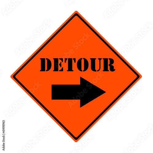 Fotografie, Obraz  Detour This Way Sign