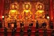 three big golden buddha in chinese style