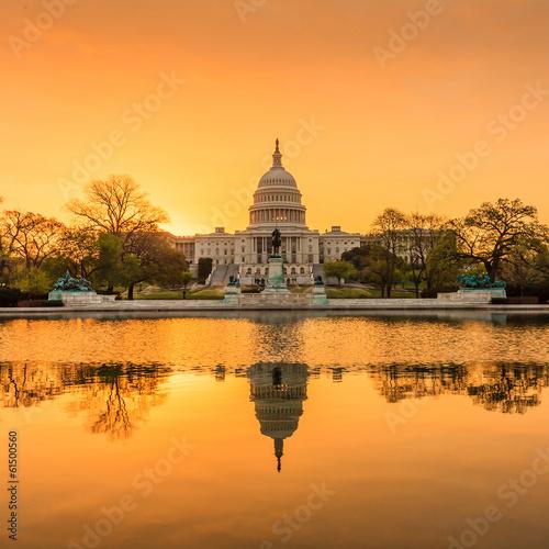 Fototapeta Capitol building in Washington DC obraz