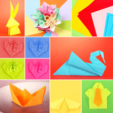 Collage Of Different Origami Papers Close-up