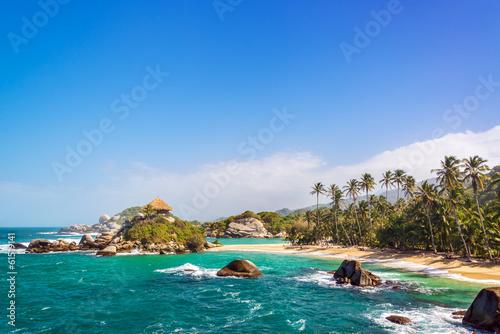 Poster South America Country Beautiful Tayrona Beach