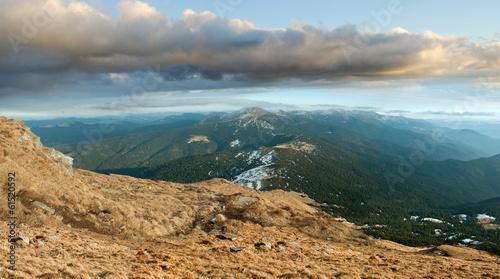 Staande foto Vulkaan ridge and the peak of Mount Goverla