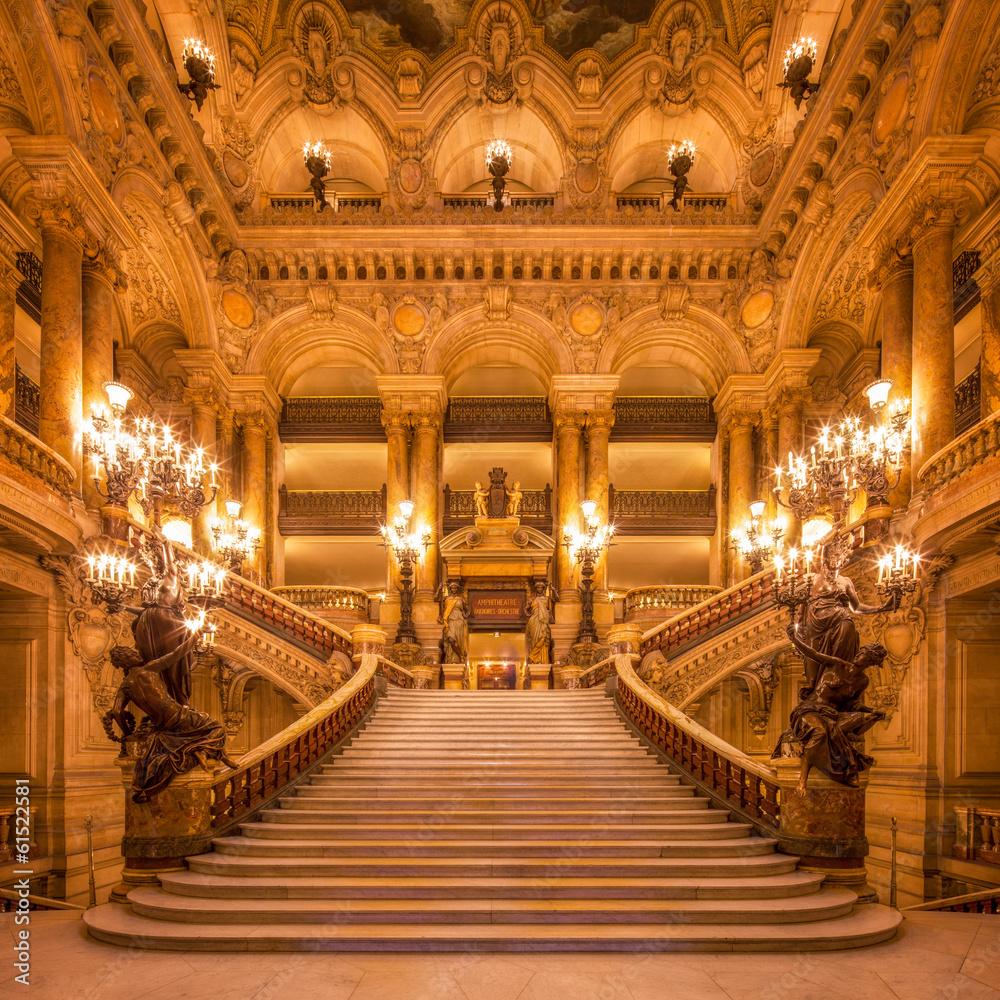 Fototapety, obrazy: Treppenhaus in der Oper