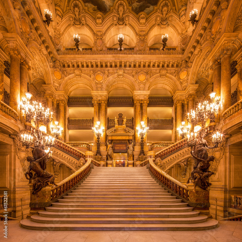 Photo sur Toile Bestsellers Treppenhaus in der Oper