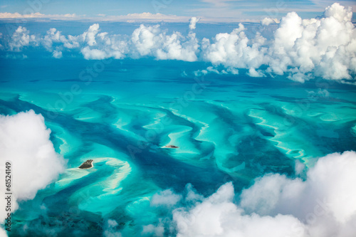 Wall Murals Air photo Bahamas aerial