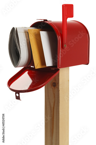 Fotografie, Obraz  Red Mailbox