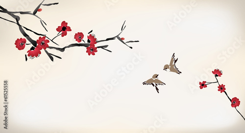 blossom painting - 61525558