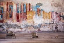 Fresco At The Ancient Roman City Of Pompeii