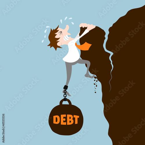Fotografía  Business man with debt