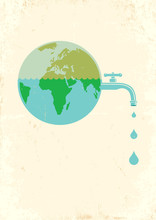 Earth With Water Tap