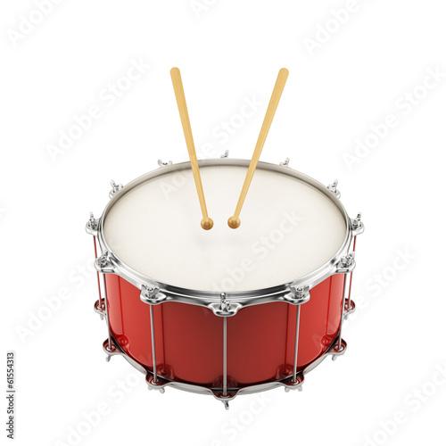 Red drum Fototapeta