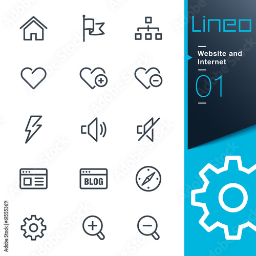 Lineo - Website and Internet outline icons Poster