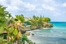A Secluded Cove In Barbados