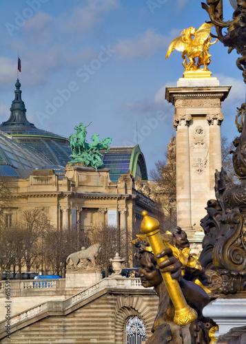 Papiers peints Retro Pont alexandre 3 et le grand palais, Paris