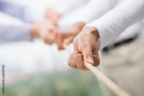 Foto  Team-Unterstützung