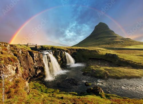 Tuinposter Zwart Iceland landscape