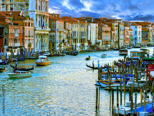 Canvas Prints Venice, Italy - Grand Canal and historic tenements