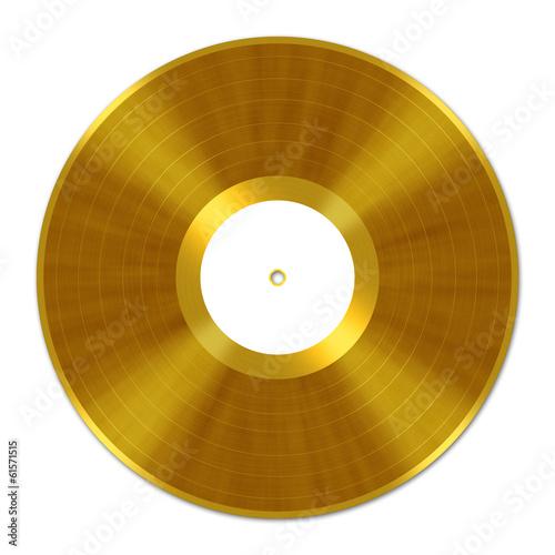 Fotografía  Golden Vinyl Record, Schallplatte