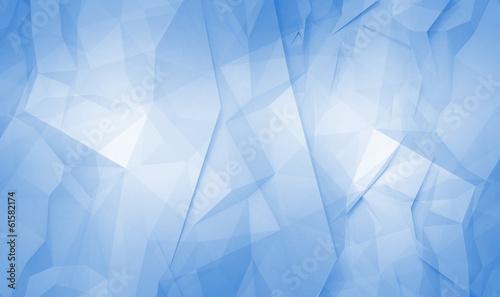 fototapeta na lodówkę Streszczenie niebieskim cyfrowej 3D wzór tła powierzchni wielokątna