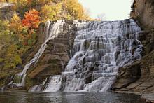 Ithaca Falls In Autumn
