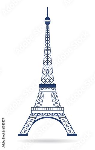 Plagát  Vector Logo Eiffel tower