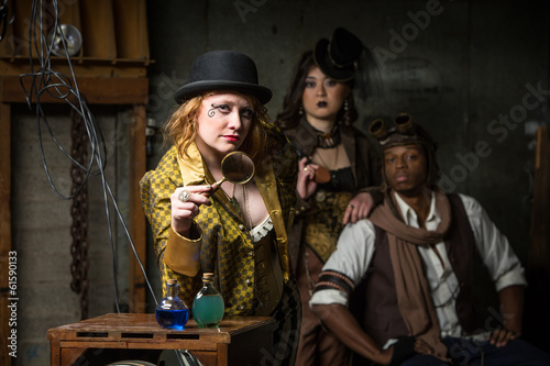 Fotografie, Tablou  Steampunk Trio with In Retro Lab