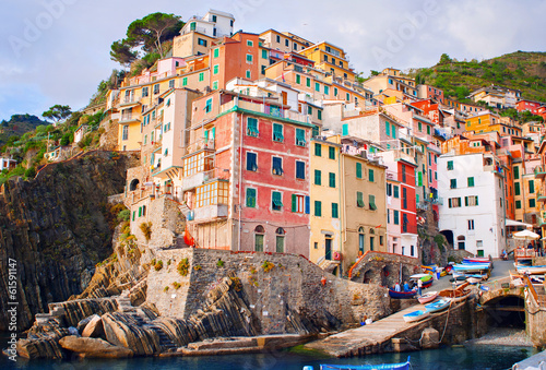 Photographie  View of Riomaggiore, Italy