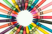 Crayons In A Circle