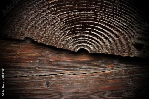 Fotografie, Obraz  fir cracked stump abstract texture