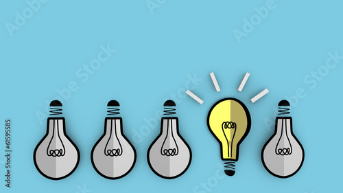 Photo Concept of emerging idea for business background