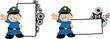 police kid cartoon copyspace0