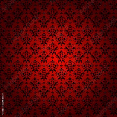 Fotografía  Damask seamless floral classic pattern.